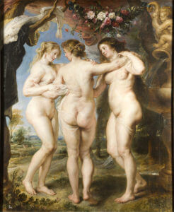 Obraz Rubensa - Trzy Gracje (1637-38), Prado, Madryt